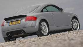 Side Back Pose Of 2003 Audi TT In Grey